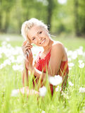 Woman outdoors Royalty Free Stock Images