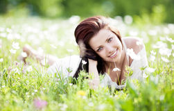 Woman outdoors Stock Photography