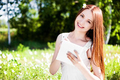 Woman outdoors Royalty Free Stock Photography