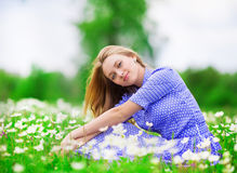 Woman outdoors Stock Images
