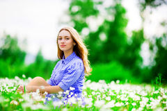 Woman outdoors Royalty Free Stock Image