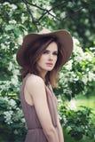 Woman Outdoors di modello magnifico Immagine Stock Libera da Diritti