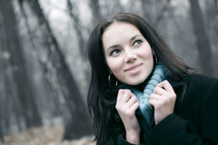 Woman outdoors portrait Royalty Free Stock Photo