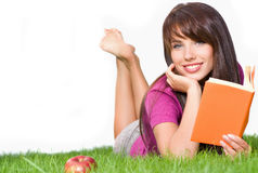 Free Woman Outdoors Reading Book Royalty Free Stock Photography - 7902207