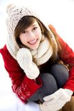 Woman outdoors in winter Royalty Free Stock Image
