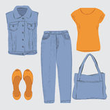 Woman outfit. Royalty Free Stock Photo