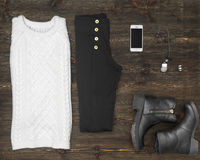 Woman outfit Stock Photography
