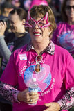 Woman in Outlandish Glasses at Breast Cancer Event Stock Photography