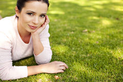 Woman outside Royalty Free Stock Image