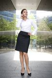 Woman outside a modern building Royalty Free Stock Photography