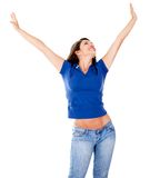 Woman with outstretched arms Royalty Free Stock Photos