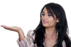 Woman with outstretched hand Stock Photo