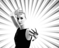 Woman over abstract backround Royalty Free Stock Photos