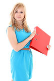 Woman over white background Royalty Free Stock Photo