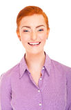 Woman over white background Stock Photography
