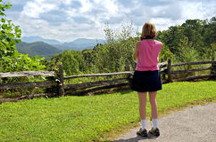 Woman at an Overlook Royalty Free Stock Photography