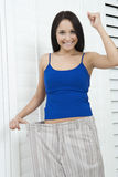 Woman In Oversized Shorts Stock Images