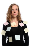 Woman Overwhelmed by Tasks Stock Images