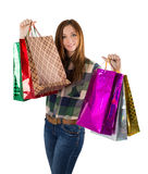 Woman Packages buying gifts Royalty Free Stock Photography