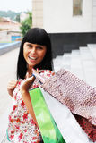 The woman with packages from shop Stock Photography