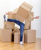 Woman packing Royalty Free Stock Image