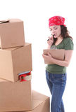 Woman Packing Royalty Free Stock Images