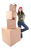 Woman Packing Stock Photos