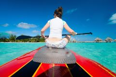 Woman on paddle board Royalty Free Stock Photography