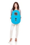 Woman padlock symbol Stock Images