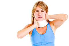 Woman in pain Stock Image