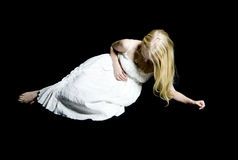 Woman in Pain Royalty Free Stock Photography
