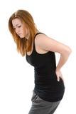 Woman Pain Back stock photo