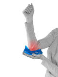 Woman with pain in elbow Stock Photography