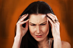 Woman pain stress stock images