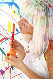 Woman in Paint Royalty Free Stock Photos