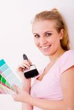 Woman paint color Stock Photography