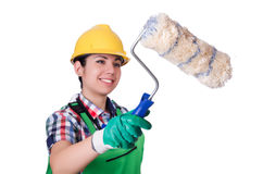 Woman painter Royalty Free Stock Images