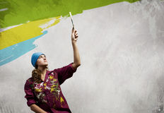 Woman painter Stock Photo