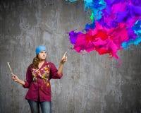 Woman painter Stock Image