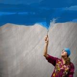 Woman painter Royalty Free Stock Photo