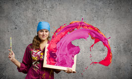 Woman painter Royalty Free Stock Photos