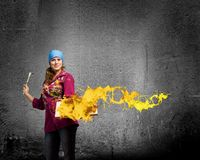 Woman painter Royalty Free Stock Image