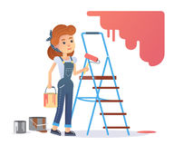 Woman painter Stock Images