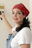 Woman Painting royalty free stock photos