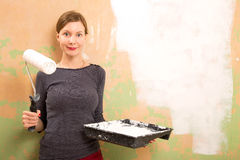 Woman painting Stock Photo