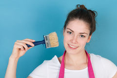 Woman painting the interior Royalty Free Stock Photography
