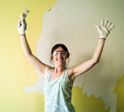 Woman painting Royalty Free Stock Images