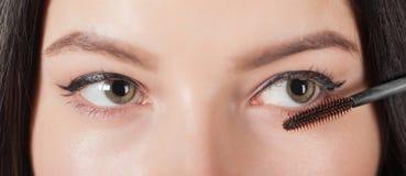 Woman paints the eyelashes mascara Stock Image