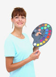 A woman and palette Stock Photo
