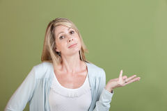 Woman with Palm Up Royalty Free Stock Photography